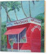 Malasada Stand Wood Print