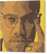 Malcolm El Afroxicano Wood Print