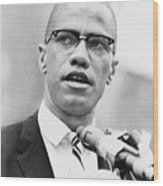 Malcolm X 1925-1965, Forceful African Wood Print