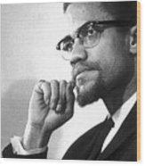 Malcolm X (1925-1965) Wood Print by Granger