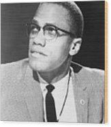 Malcolm X, Militant Black Muslim Civil Wood Print by Everett