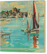 Maldon, England, Sailing Boats Wood Print