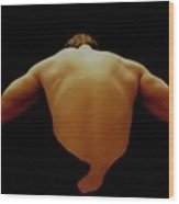 Male Back Study - 8x12 Wood Print