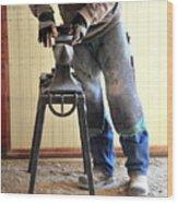 Male Farrier. Wood Print