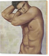 Male Nude 1 Wood Print