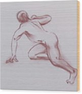 Male Nude 19 Wood Print