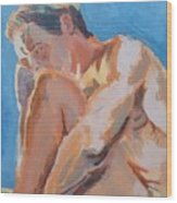 Male Nude Painting Wood Print