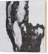 Male Nude Side Wood Print