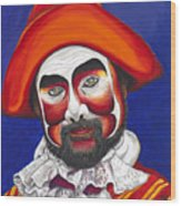 Male Pirate Carnival Figure Wood Print