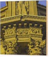 Male Statue Palace Of Fine Arts Wood Print