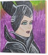Maleficent Wood Print