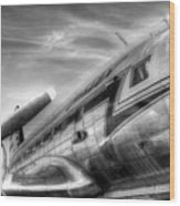 Malev Airlines Ilyushin Il-14 Wood Print