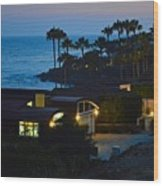 Malibu Beach House - Evening Wood Print