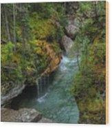 Maligne Canyon Falls Jasper National Park Wood Print