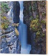 Maligne Canyon Wood Print