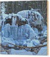 Maligne Canyon Winter Wonders Wood Print