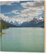 Maligne Lake In Jasper National Park Wood Print