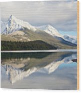 Malingne Lake Reflection, Jasper National Park  Wood Print