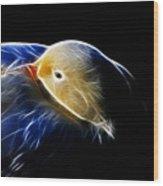 Mallard Duck Fractal Wood Print