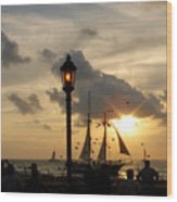 Mallory Square Key West Wood Print