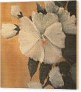 Mallow Wood Print