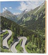 Maloja Pass In Graubunden, Switzerland Wood Print