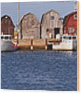 Malpeque Harbour Panorama Wood Print