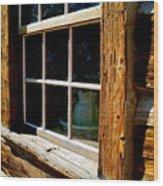 Maltese Cross Cabin Window Wood Print