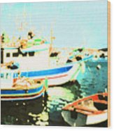 Maltese Harbor Wood Print