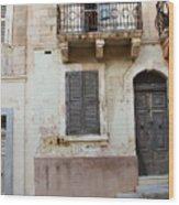 Maltese House On A Steep Street Wood Print