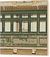 Maltese Wooden Enclosed Balcony And Windows Wood Print