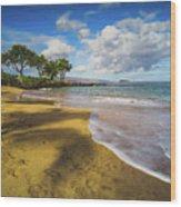 Maluaka Beach Wood Print