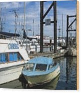 Mama Boat ... Baby Boat Wood Print