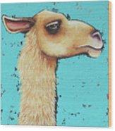 Mama Llama Wood Print
