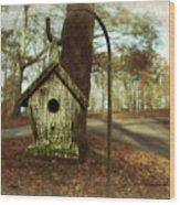 Mamaw's Birdhouse Wood Print by Steven  Michael