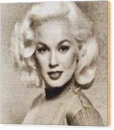 Mamie Van Doren, Vintage Actress And Pinup Wood Print