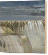 Mammoth Hot Springs - Yellowstone Wood Print