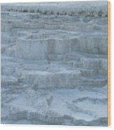 Mammoth Hot Springs Travertine Terraces One Wood Print