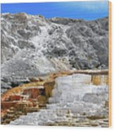 Mammoth Hot Springs3 Wood Print