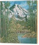 Mammoth Mountain Wood Print