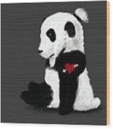 Man Bun Panda Wood Print
