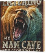 Man Cave Wood Print by JQ Licensing