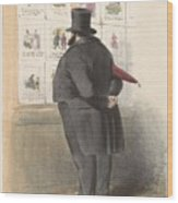 Man For A Showcase With Prints, Anonymous, 1810 - C. 1900 Wood Print
