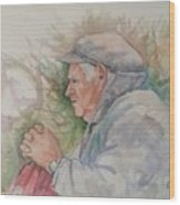 Man From Aran Wood Print