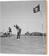 Man Golfing, C.1960s Wood Print