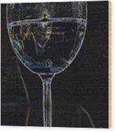 Man In A Glass Wood Print