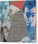 Man In A Houndstooth Suit Wood Print