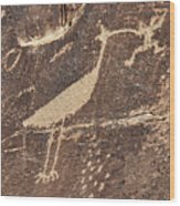 Man In Beak Wood Print