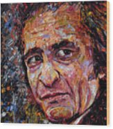 Man In Black Johnny Cash Wood Print