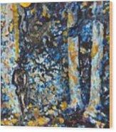 Man In Moonshadow Wood Print